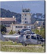 French Navy As565 Panther Helicopter Canvas Print