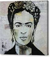 Frida Kahlo Press Canvas Print