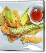 Fried Shrimps Tempura Canvas Print