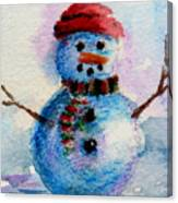 Frosty Aceo Canvas Print