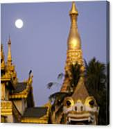 Full Moon In Burma Canvas Print