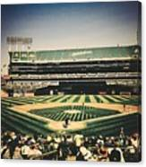 Game Day In Oakland Canvas Print