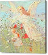 Gathering Flowers  Canvas Print