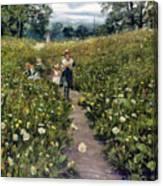 Gathering Wild Flowers Canvas Print