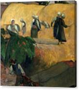 Gauguin: Breton Women Canvas Print