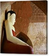 Geometric Buddha Canvas Print