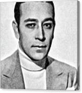 George Raft, Vintage Actor By Js Canvas Print
