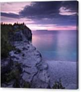 Georgian Bay Cliffs At Sunset Canvas Print