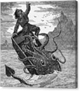 Giant Squid, 1879 Canvas Print