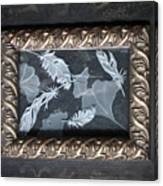 Ginko Leaves And Feathers Canvas Print