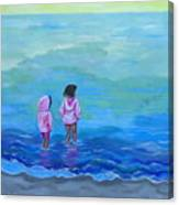 Girls In Pink Canvas Print
