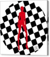 Girls. Red. II Canvas Print