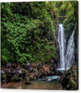 Git Git Waterfall - Bali Canvas Print