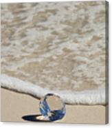 Glass Diamond On The Beach Canvas Print