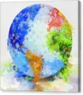Globe Painting Canvas Print