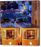 Gloria Funicular, Lisbon, Portugal Canvas Print