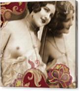 Nostalgic Seduction Goddess Canvas Print