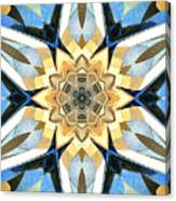 Golden Flower Abstract Canvas Print