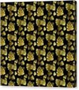 Golden Tropics Pattern Canvas Print
