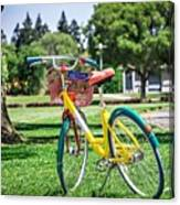 Google Bike Parked Near Googleplex Facility Park Canvas Print