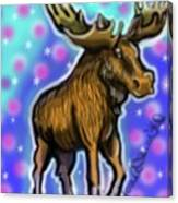 Graffiti Moose Canvas Print