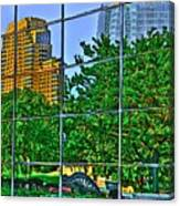 Grand Rapids Mi On Glass-17 Canvas Print