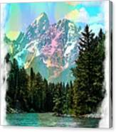 Grand Tetons From The Snake River Canvas Print