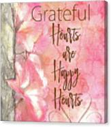 Grateful Hearts Canvas Print