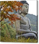 Great Buddha In Autumn Canvas Print