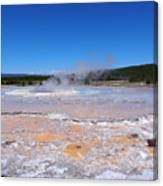 Great Fountain Geyser In Yellowstone National Park Canvas Print