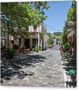 Greek Village Plaza Canvas Print