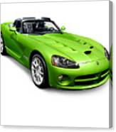 Green 2008 Dodge Viper Srt10 Roadster Canvas Print