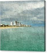 Green And Bluie Canvas Print