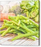 Green Bean Canvas Print