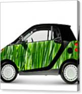 Green Mini Car Canvas Print