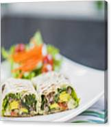 Grilled Vegetable And Salad Wrap Canvas Print