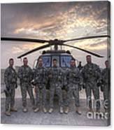 Group Photo Of Uh-60 Black Hawk Pilots Canvas Print