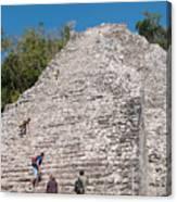 Grupo Nohoch Mul At The Coba Ruins  Canvas Print