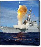 Guided Missile Destroyer Uss Hopper Canvas Print