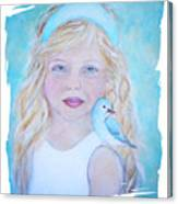 Gwyneth Little Earth Angel Of Happiness Canvas Print