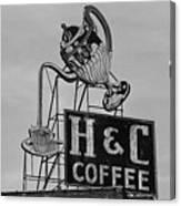 H C Coffee Canvas Print