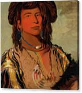 Ha-won-je-tah, One Horn, Head Chief Of The Miniconjou Tribe Canvas Print