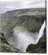 Haifoss Waterfall Iceland 1340 Canvas Print