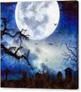 Halloween Horror Night Canvas Print