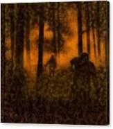 Halloween Horror Zombie Rampage Canvas Print
