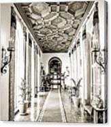 Hallway Of Elegance Canvas Print