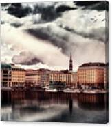 Hamburg At Dusk Canvas Print