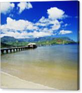 Hanalei Bay With Pier Canvas Print