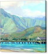 Hanalei Pier Canvas Print
