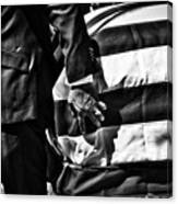 Hand In Flag Canvas Print